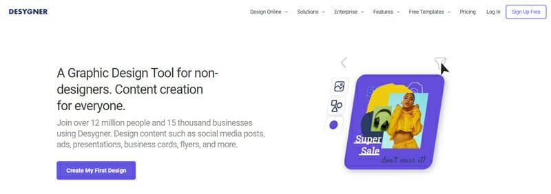 Desygner Most Versatile Online Vision Board Platform for Beginners.