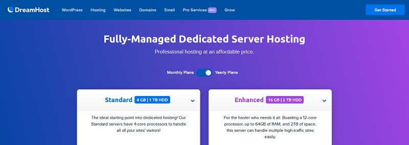 Dreamhost - Fully-Managed Dedicated Server Hosting_