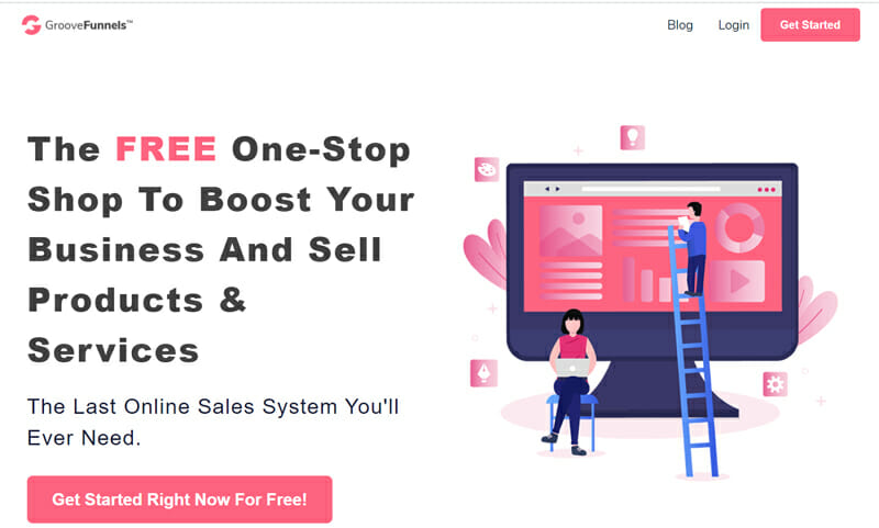 GrooveFunnels Best Free Sales Funnel Software to Sell Your Products and Make Money Online.