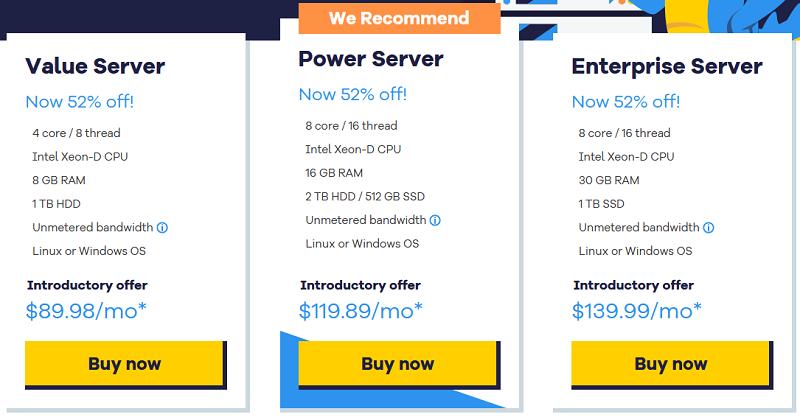Hostgator - Dedicated Hosting - pricing