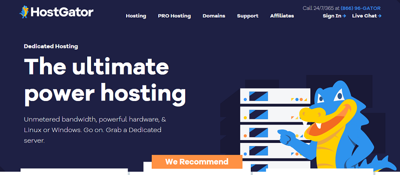 Hostgator  Best Bluehost alternative for businesses looking for cost-effective packages and scalability.