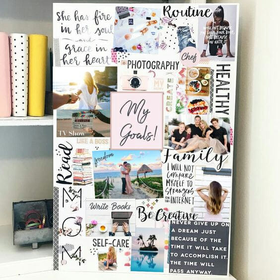 Personal vision board example