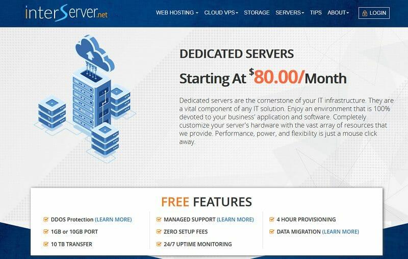 InterServer.net - dedicated servers