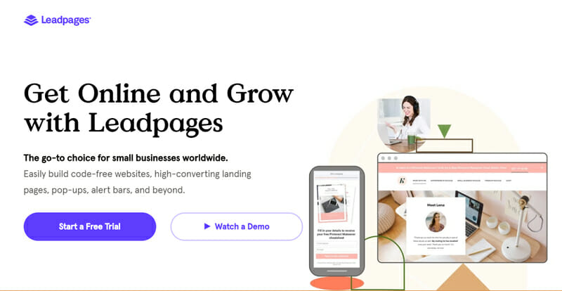 LeadPages Go to Choice to Create High Converting Landing Pages for Small Businesses.