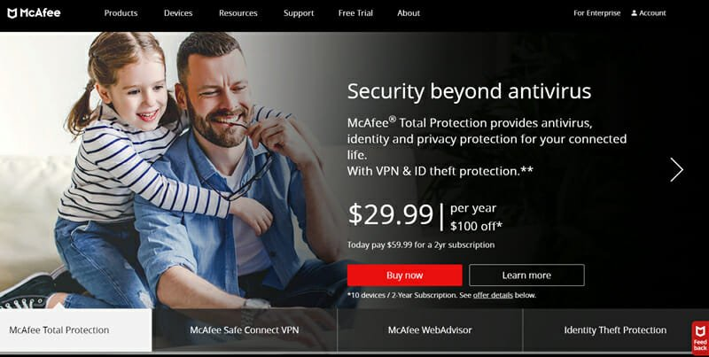 McAfee Best Internet Security Software for Identity Theft Protection.