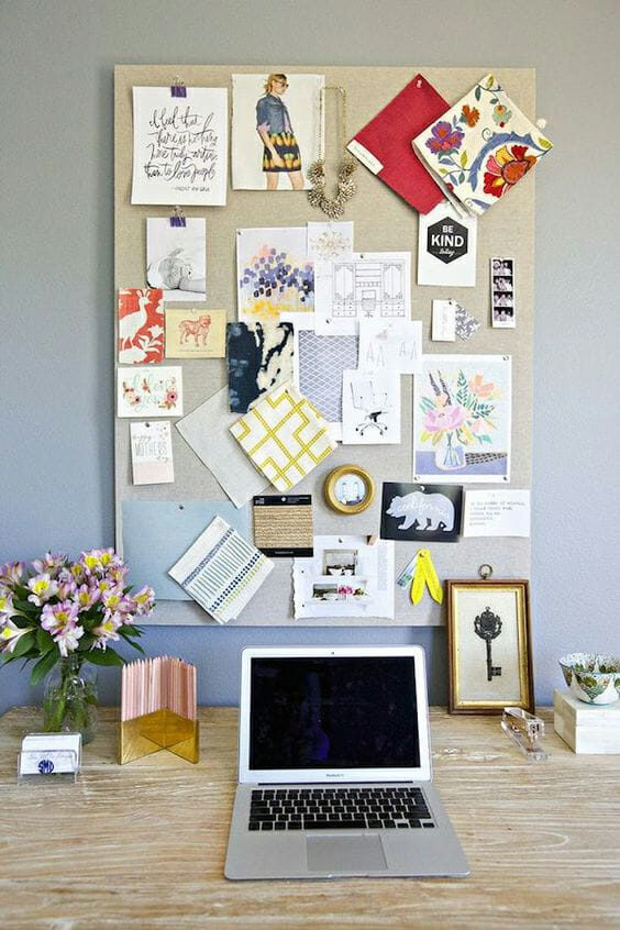 Office inspired online vision board