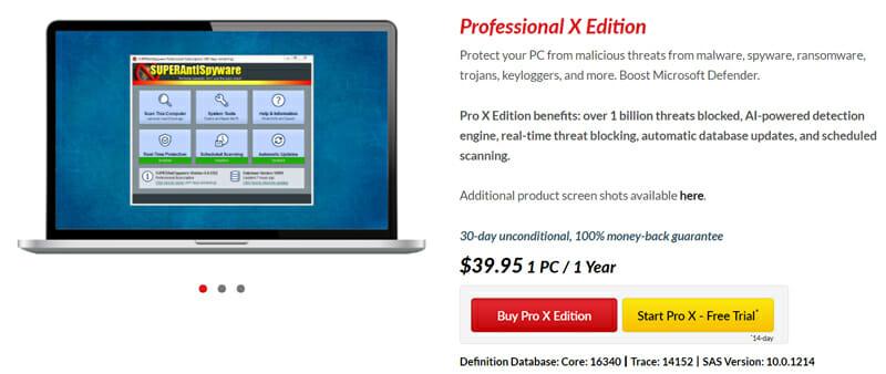 Pricing of SuperAntiSpyware
