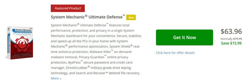 Pricing of System Mechanic Ultimate Defense