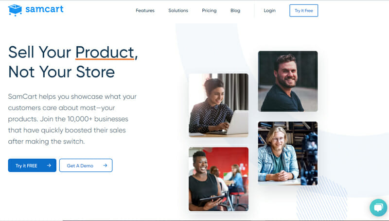 Samcart #1 Direct to Consumer eCommerce Platform and Shopping Cart Software.