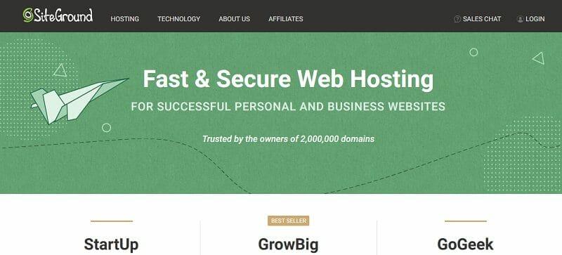 SiteGround - web hosting