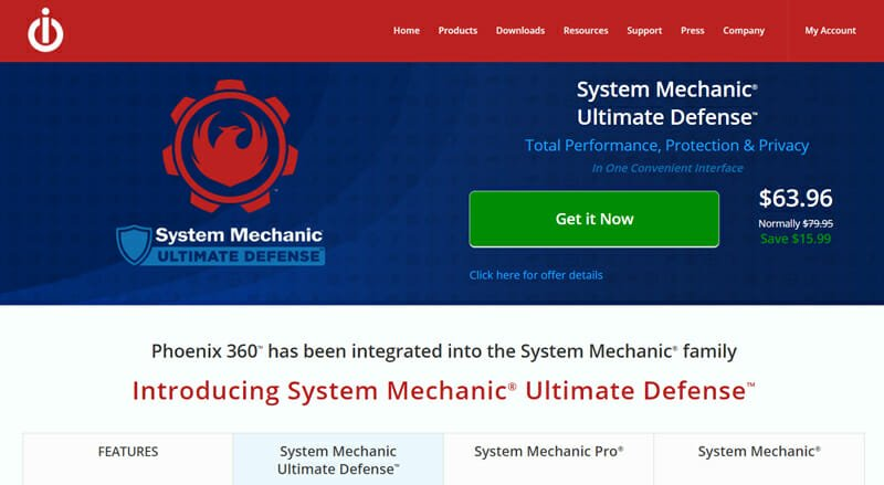 System Mechanic Ultimate Defense Best Spyware Removal Tool for Protecting Credit Card Information.