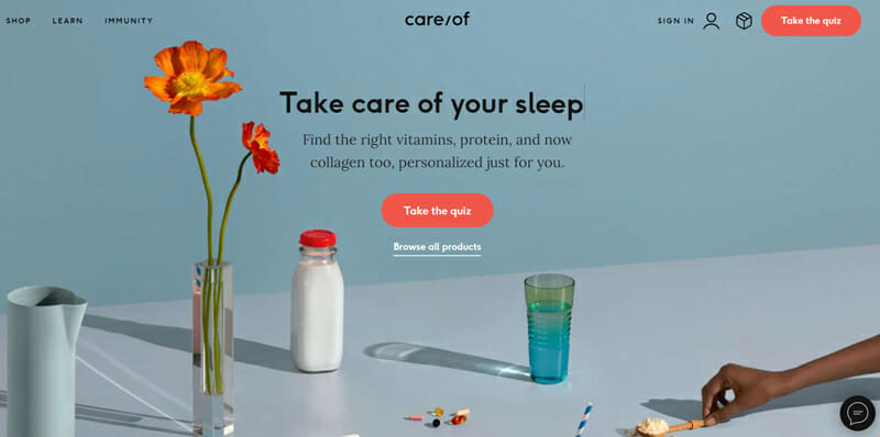 TakeCareOf is a great example of using a visual to challenge the audience to think and persuading them to take action.
