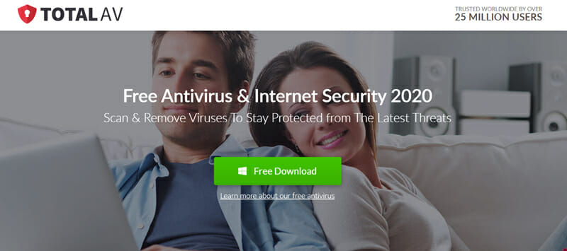 TotalAV Best Full Security Suite for Spyware and Adware Cleaning.