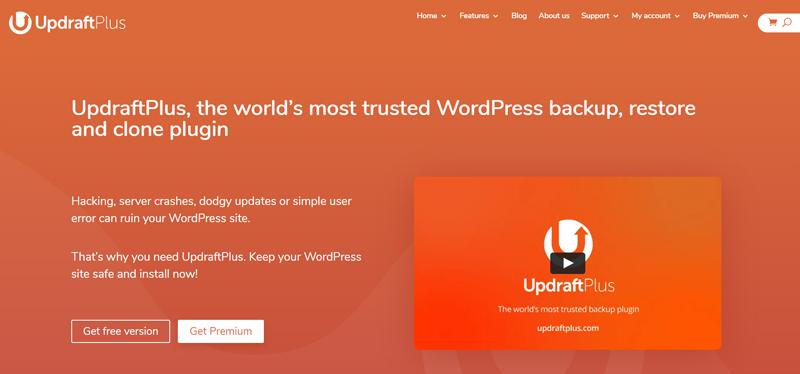 UpdraftPlus is a backup plugin