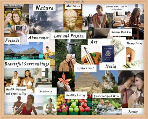 Vision board to active law of attraction