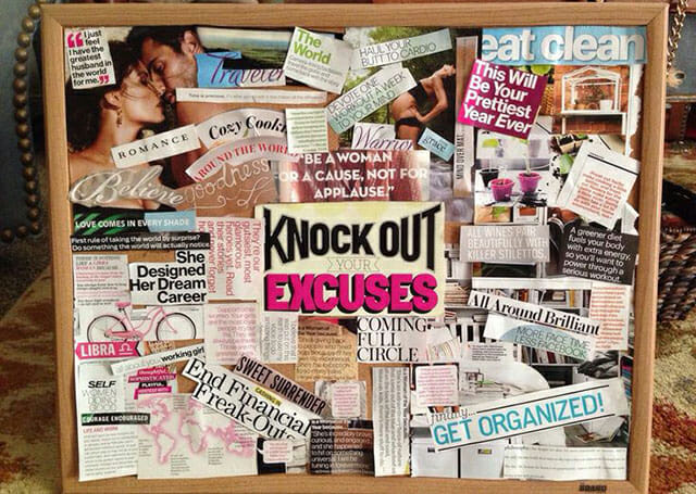 Vision board online example