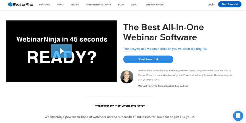 WebinarNinja the Best Platform to Host Your Webinar