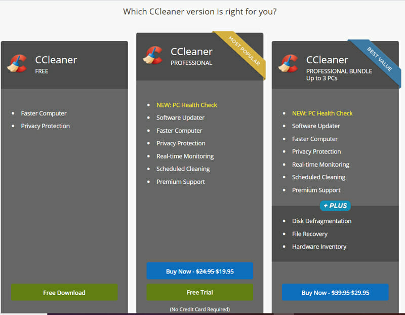 Which CCleaner version is right  for you?