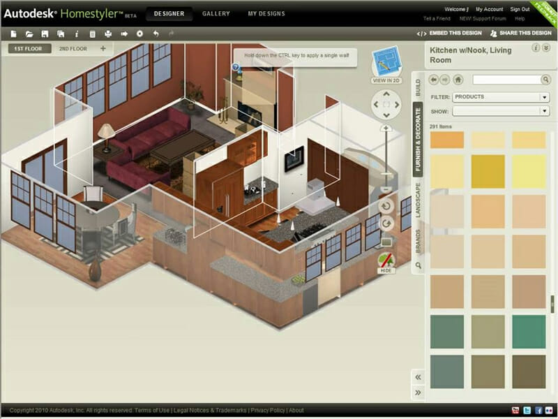 3D design done on HomeStyler