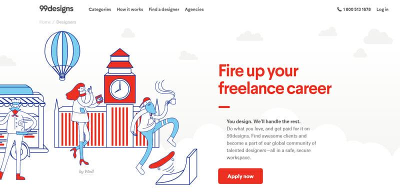 99designs Best freelance job board offering design work