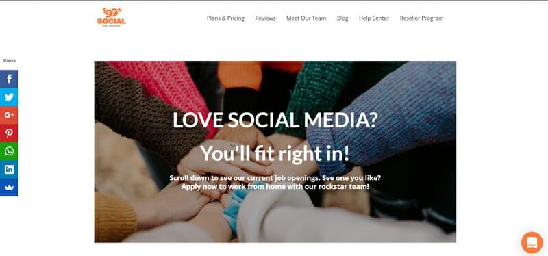 $99social Best freelance job platform to find social media management jobs.