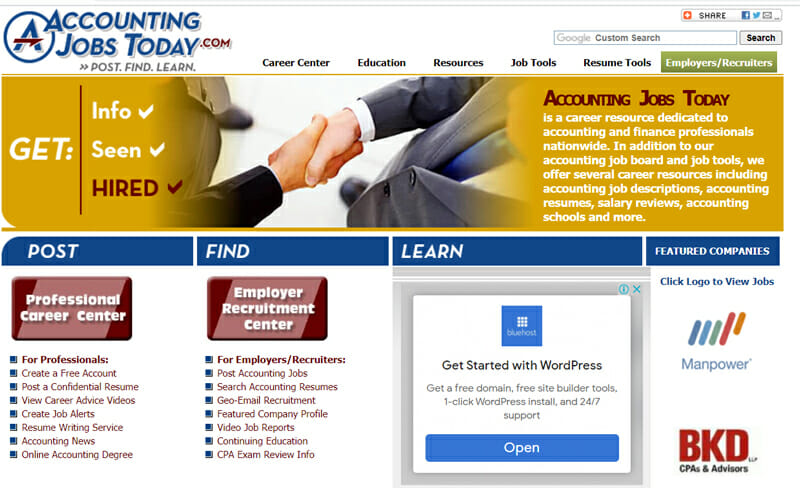 Accounting Jobs Today Best job board offering accounting work to freelance professionals.