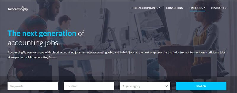 Accountingfly Best job board for freelance accountants to find work.