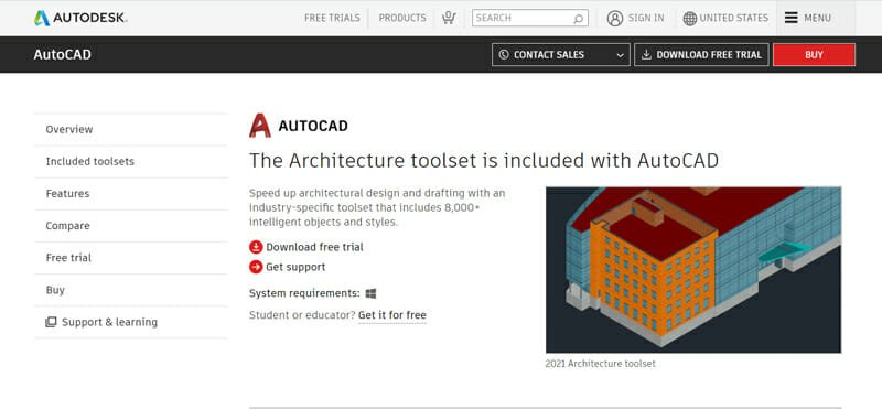 AutoCAD Architecture Best Free Floor Plan Software for Students.