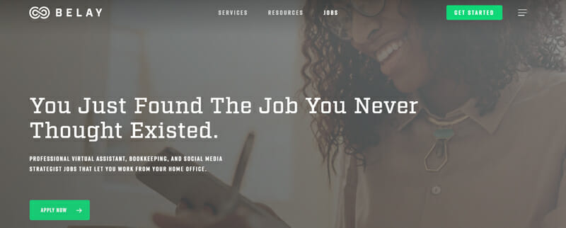 Belay Best freelance job platform that matches virtual assistants to clients needing their services.
