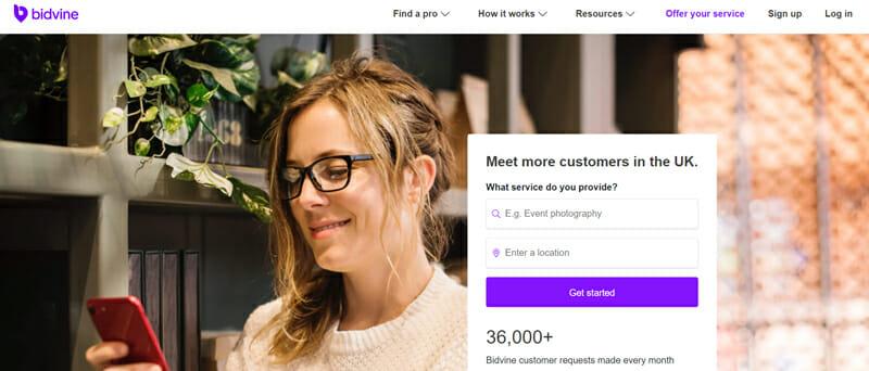 Bidvine Best online platform to connect freelance sales professionals to clients.
