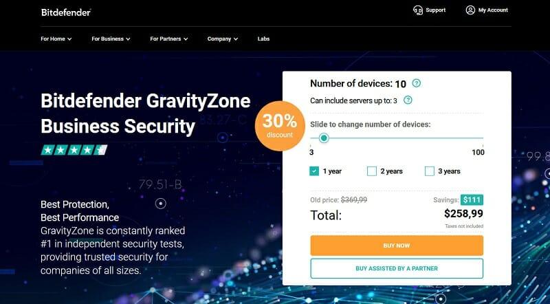 Bitdefender - Pricing Business Security