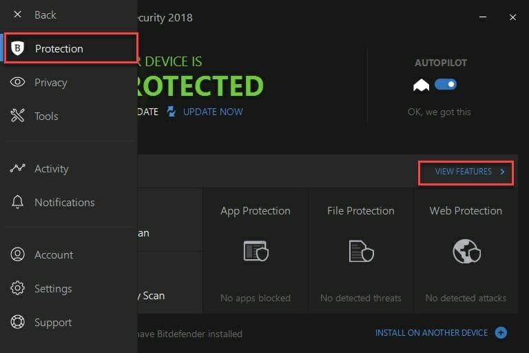 Bitdefender - antivirus protection