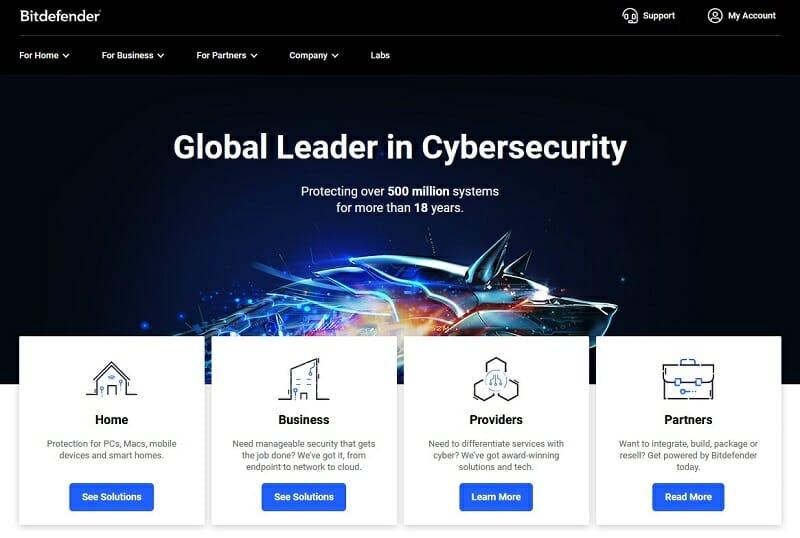 Bitdefender - threat intelligence and antivirus software tool