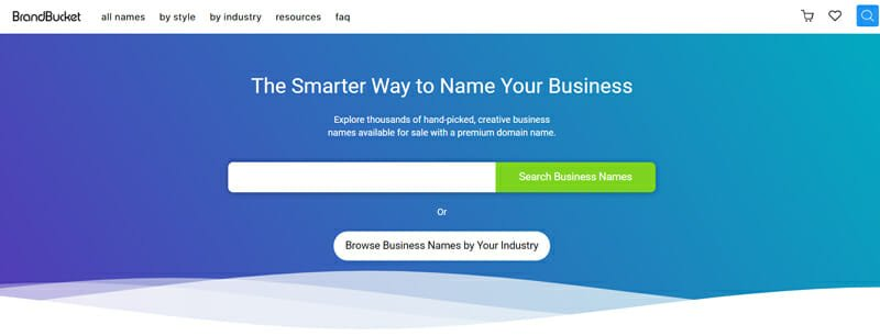 Brandbucket Best company name generator for the perfect name for your small business.
