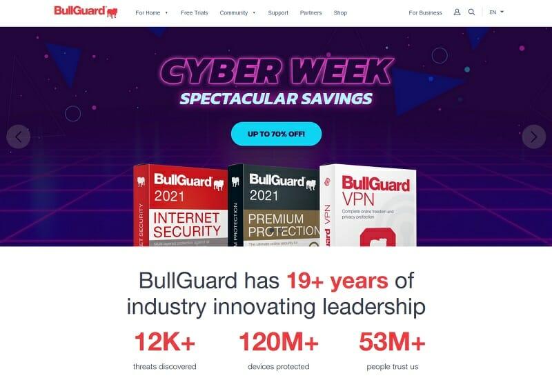 BullGuard internet security tool