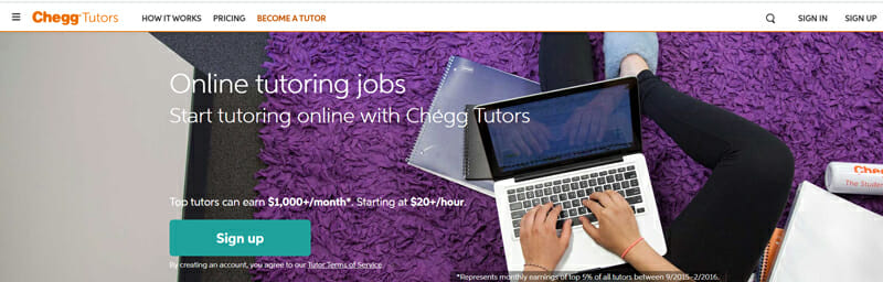 Chegg Tutors Best online platform for freelance tutors to find jobs.