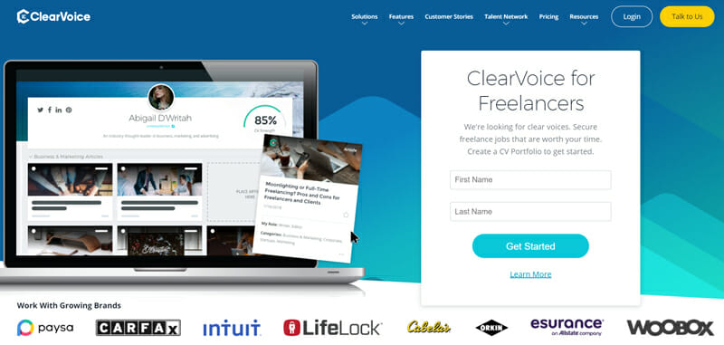 ClearVoice Best freelance job platform to find freelance jobs.
