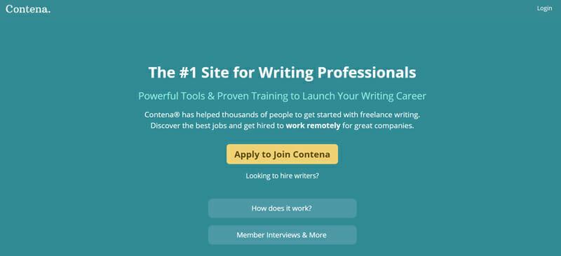 Contena Best premium job board for freelance writing jobs.