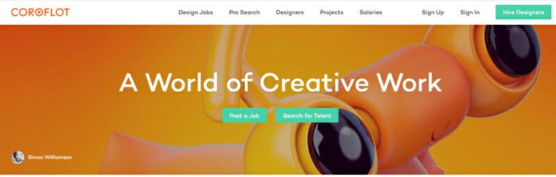 Coroflot Best freelance job board offering job opportunities to freelance designers
