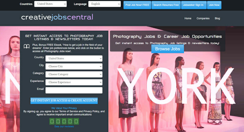 Creative Jobs Central Best freelance job board offering freelance photography jobs