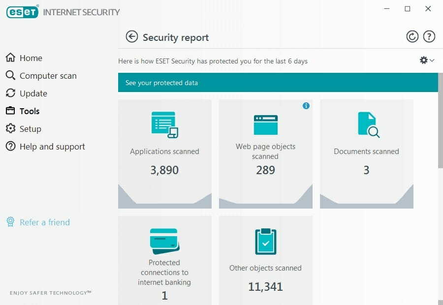 ESET - Internet Security and spyware tool