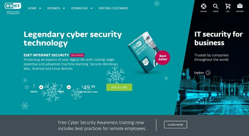 ESET - ransomware protection software