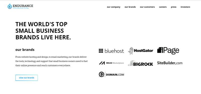 Endurance International Group (EIG) a corporation owns other hosting provider