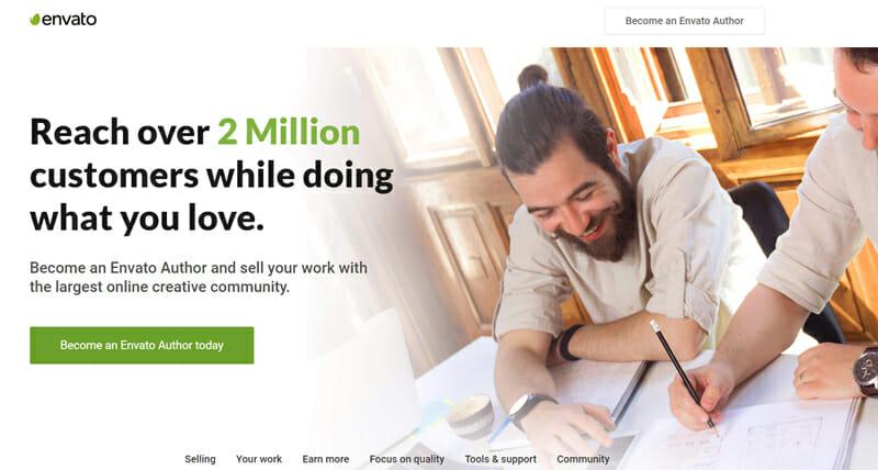Envato Best freelance job website for creative freelance work