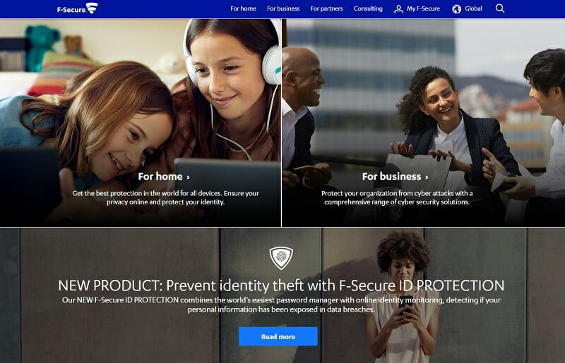 F-Secure - identity protection software