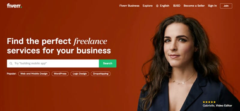 Fiverr Best freelance marketplace for freelance jobs that pay well.