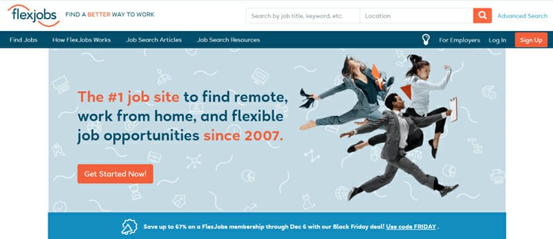 Flexjobs Most Preferred Freelance Platform with a Straightforward User Interface for all Kinds of Remote Work.
