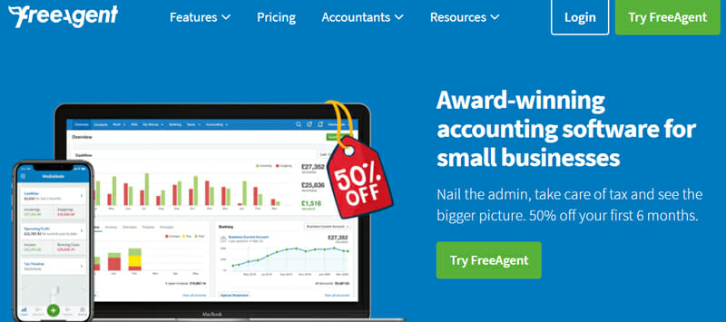 Free Agent UK's-#1 Accounting Software for Small Businesses.