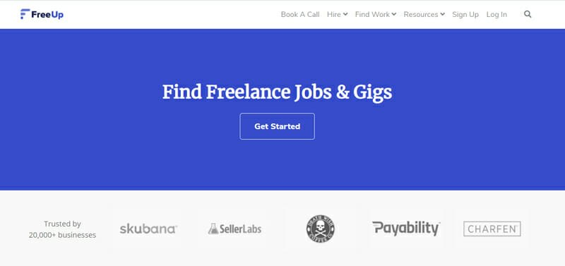 FreeUp Best freelance marketplace to find sales jobs.