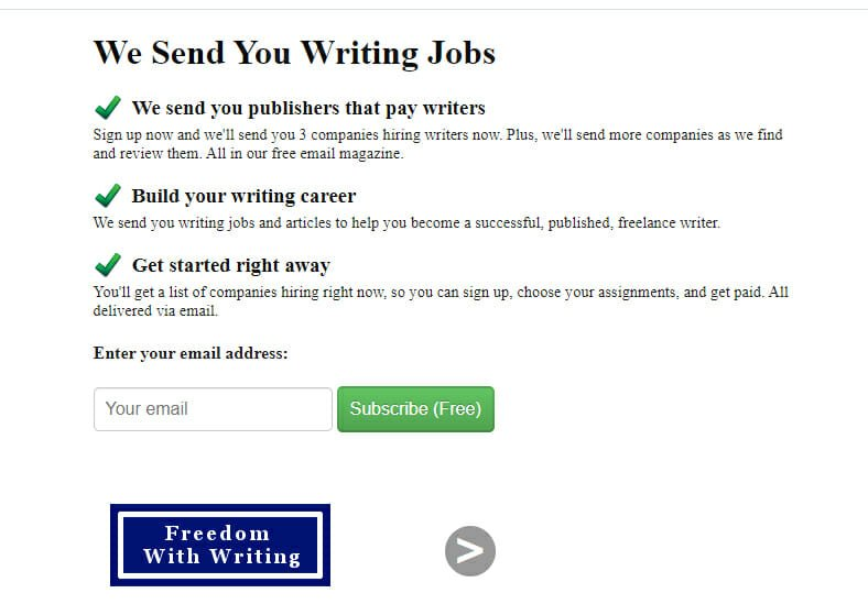 Freedom with writing Best Freelance job website to find work from home writing jobs